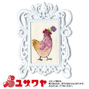 ○RTO 輸入刺繍キット Hen with a flower FA007 [刺しゅう ししゅう 輸入キット クロスステッチ ハンドメイド]