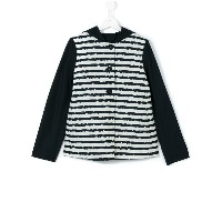 Herno Kids - teen striped jacket - kids - コットン/アクリル/ポリアミド/other fibers - 14 yrs