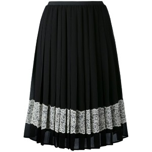 Red Valentino - embellished crepe skirt - women - ポリエステル - 40