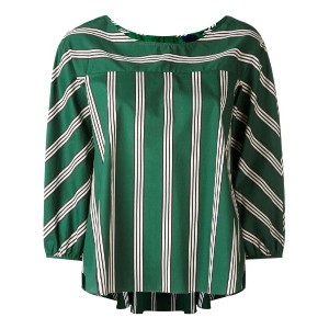 Aspesi - striped oversized top - women - コットン - 42