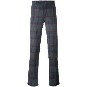 Massimo Alba - checked trousers - men - リネン - 48