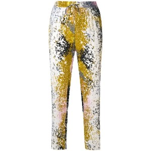 Diane Von Furstenberg - splattered trousers - women - シルク/スパンデックス - M