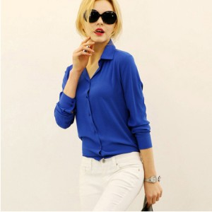 5 Colors Work Wear Women Shirt Chiffon Blusas Femininas Tops Elegant Ladies Formal Office Blouse