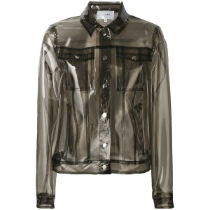 Carven - transparent Lola jacket - women - ポリウレタン - 36