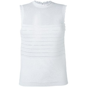 Carven - knit tank top - women - コットン/ナイロン - M