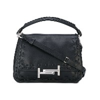Tod's - 'Double T' shoulder bag - women - レザー/ナイロン - ワンサイズ