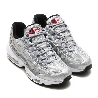 NIKE WMNS AIR MAX 95 QS (ナイキ ウィメンズ エア マックス 95 QS) METALLIC SILVER/VARSITY RED-BLACK-WHITE【レディース...