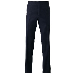 Fashion Clinic Timeless - plaid tailored trousers - men - ウール - 58