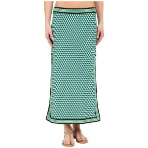 マイケル コース Michael Kors レディース 水着 ビーチウェア【Mini Deco Cube High Slit Skirt Cover-Up】Turquoise Multi