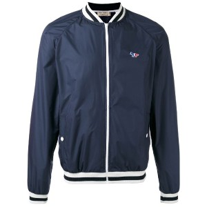 Maison Kitsuné - zipped bomber jacket - men - ポリエステル - M