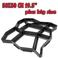 Plus Size!!!! 50cm 19.5&quot DIY Plastic Irregular Path Walk Maker Walkmaker Mold Manually Paving...