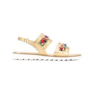 Quis Quis - embellished sandals - kids - レザー/rubber - 40