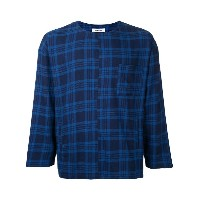 monkey time - plaid chest pocket T-shirt - men - コットン - M