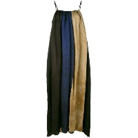 Uma Wang - block stripes maxi dress - women - キュプロ/ビスコース - M