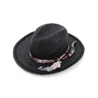 Undercover - patterned band hat - unisex - ストロー - 59