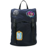 Versace - Patches backpack - men - レザー/ナイロン - ワンサイズ