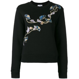 Carven - floral patch sweatshirt - women - コットン - L