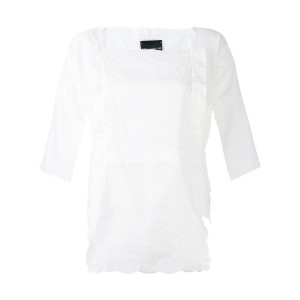 Erika Cavallini - embroidered blouse - women - コットン - L