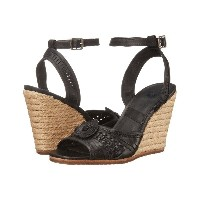 フライ Frye レディース シューズ・靴 サンダル【Patricia Concho Wedge】Black Smooth Vintage Leather