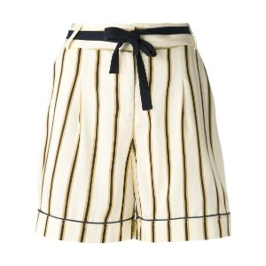 Roberto Collina - striped tailored shorts - women - コットン/ビスコース - M