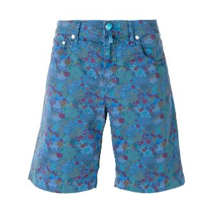 Jacob Cohen - floral print shorts - men - コットン/スパンデックス - 33