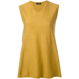 Roberto Collina - round neck flared tank - women - コットン - S