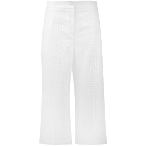 Blugirl - embroidered cropped trousers - women - コットン - 46