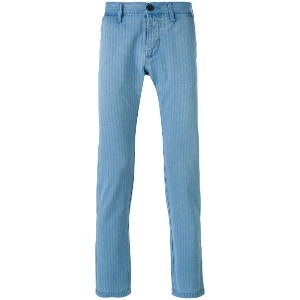 Edwin - striped tapered trousers - men - コットン - 36