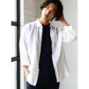 UNITED ARROWS green label relaxing BC LINI/DELAVE BD-R 7分袖 シャツ ユナイテッドアローズ グリーンレーベルリラクシング【送料無料】