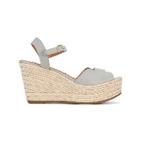 Chie Mihara - wedge sandals - women - ラフィア/レザー/rubber - 40