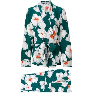 Equipment - floral suit jacket - women - シルク - L