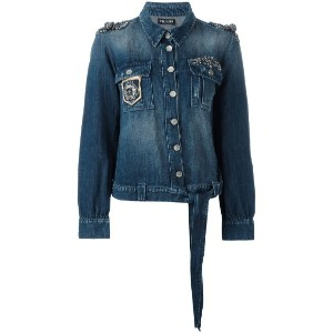 Twin-Set - embroidered denim jacket - women - コットン/リネン - 42