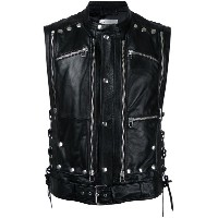 Faith Connexion - sleeveless biker jacket - men - ラムスキン - XS