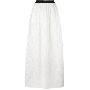 Blugirl - broderie anglaise maxi skirt - women - コットン/ポリエステル - 42