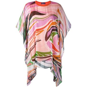 Emilio Pucci - draped printed blouse - women - シルク/コットン - L