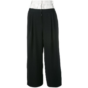 Tibi - loose-fit cropped trousers - women - polyester - M