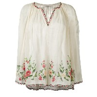 Mes Demoiselles - embroidered smock blouse - women - コットン - 2
