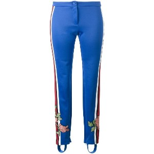 Gucci - floral embroidered trousers - women - コットン/ポリエステル - S