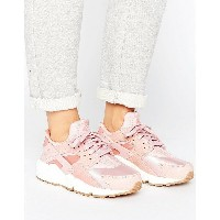 ナイキ レディース スニーカー シューズ Nike Air Huarache Run Premium Trainers In Pink Pink