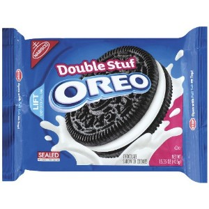 ナビスコ オレオ ダブルスタッフ Oreo Double Stuff Chocolate Sandwich Cookie, 15.35-Ounce (Pack of 4) 海外直送