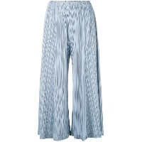 Pleats Please By Issey Miyake - pleated wide-leg trousers - women - polyester - S