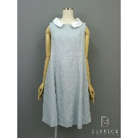 FOXEY BOUTIQUE フォクシー ワンピース Dress Linen Sucre 白襟【40】【Aランク】【中古】gz290409