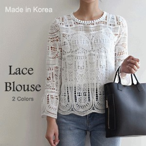 [something]Punching Lace Blouse Set ★ Direct From Korea/High Quality/Lace/Lace Blouse