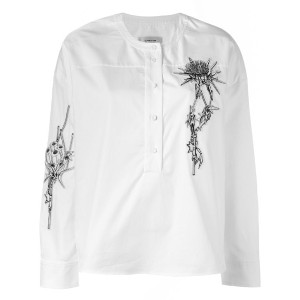 Carven - embroidered shirt - women - コットン - 38