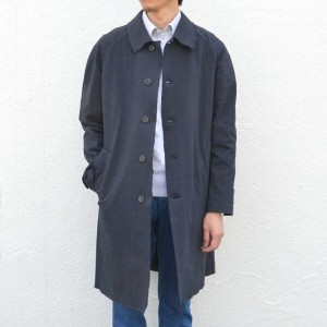 Harris Wharf London(ハリスワーフロンドン)/ Creased Cotton Oversized Coat -(359)dark blue-