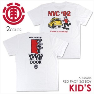 Tシャツ キッズ ELEMENT RED PACK SS BOY - AH025206 - AH025-206 【 エレメント ジュニア ボーイズ ユース スケート ストリート イラスト プリント ポ