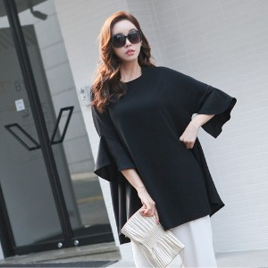 [zoozoom] A-line sleeves frill blouse 3color / 26396