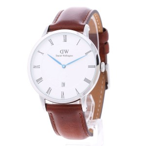 【SALE 40%OFF】ダニエル ウェリントン Daniel Wellington Dapper St Mawes Silver 38mm (BROWN)
