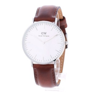 【SALE 40%OFF】ダニエル ウェリントン Daniel Wellington St Andrews Silver 36mm (BROWN)