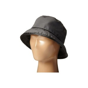 スカラ SCALA レディース 帽子 ハット【Rain Bucket Hat with Piping Trim】Charcoal